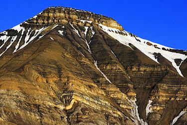 Mountain, Isfjorden, Spitsbergen, Svalbard, Norway