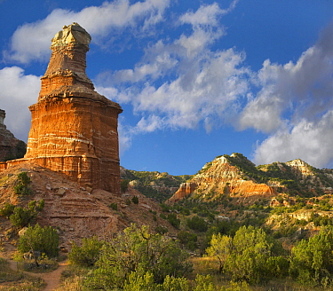 Rock formation, Lighthouse, Palo Duro Canyon State Park, Texas