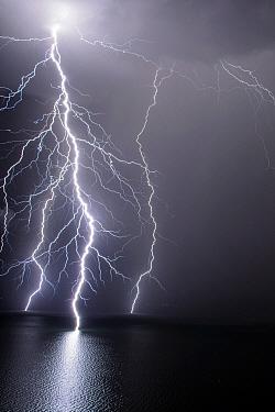 Lightning, Lake Geneva, Switzerland