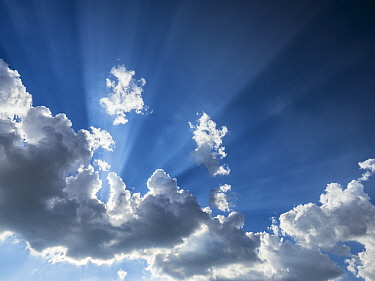 Sunrays coming through clouds, Bavaria, Germany