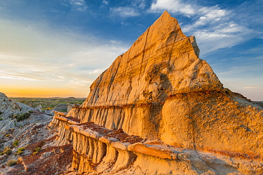 Sandstone rock formations, Theodore Roosevelt National Park, North Dakota