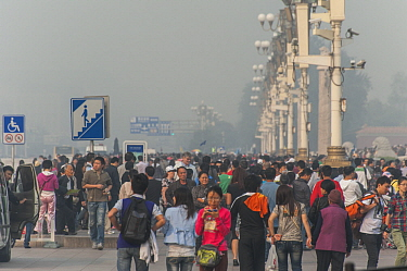 Smog in city, Beijing, China