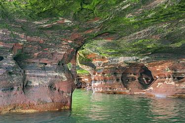 Eroded lakeshore, Apostle Islands National Lakeshore, Lake Superior, Wisconsin