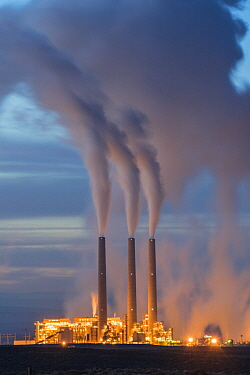 Coal power plant at night, Page, Arizona