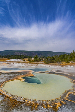 Hot spring, Doublet Pool, Upper Geyser Basin, Yellowstone National Park, Wyoming