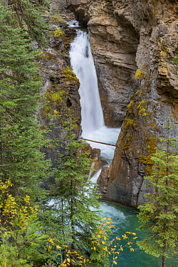 Lower Falls, Johnston Creek, Johnston Canyon, Banff National Park, Alberta, Canada