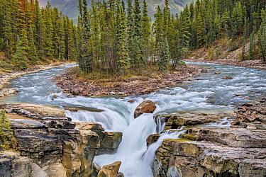 Sunwapta Falls, Sunwapta River, Jasper National Park, Alberta, Canada