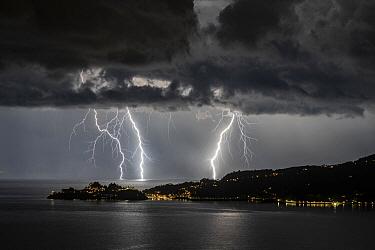 Lightning strike, Portofino, Italy