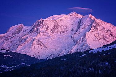 Mont Blanc at sunset, Alps, Haute-Savoie, France