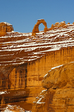 Delicate Arch in winter, Arches National Park, Utah
