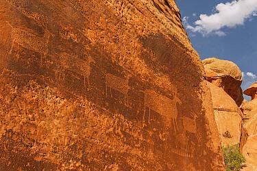 Rock art, Arches National Park, Utah