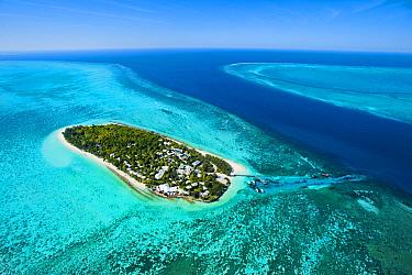 Tropical island, Heron Island, Great Barrier Reef, Queensland, Australia