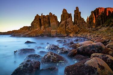 Coastal rock formation, Cape Woolamai, Phillip Island, Victoria, Australia