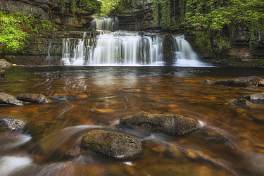 Waterfall, Cotter Force, Yorkshire Dales National Park, Yorkshire, England, United Kingdom