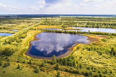 Lake aerial view, Engbertsdijksvenen, Vriezenveen, Overijssel, Netherlands