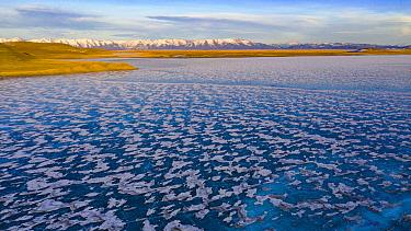 Frozen lake, Lake Tsagaan, Khovsgol, Mongolia