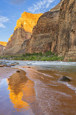 Reflections in river, Lava Rapids, Colorado River, Grand Canyon National Park, Arizona