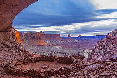 Indigenous ruins, False Kiva, Canyonlands National Park, Utah