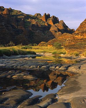 Piccaninny Creek in Cathedral Gorge in the Bungle Bungle Range, Purnululu National Park, Australia  -  Matthias Breiter