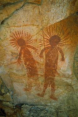 Aboriginal rock paintings at Nganalam Art Site, Keep River National Park, Australia  -  Matthias Breiter