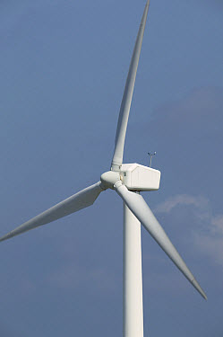 Windmill used for alternative energy on wind farm, Denmark  -  Cyril Ruoso