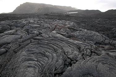 Lava field and sand storm around the Askja caldera, Askja, central Iceland  -  Cyril Ruoso