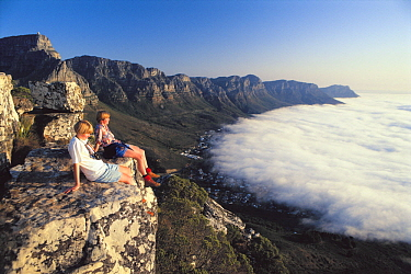 Hikers on Lion's Head, Cape Town, South Africa