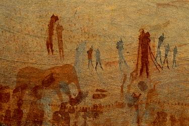 Bushman rock art, fallen rock site, Bushman Kloof, Cederberg, South Africa  -  Richard Du Toit