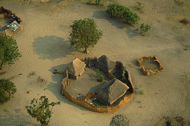Namibian village, winter, Caprivi Strip, Namibia  -  Richard Du Toit