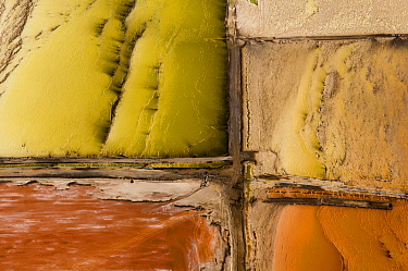 Salt evaporation ponds, Walvis Bay, Skeleton Coast, Namib Desert, Namibia