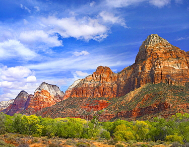 Mountains, The Watchman, Zion National Park, Utah
