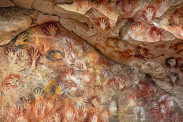 Prehistoric cave art, Cave of Hands, Patagonia, Argentina