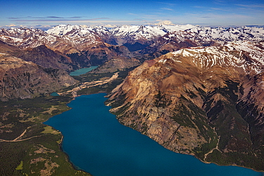 Mountains and glacial valleys, Patagonia Park, Patagonia, Chile