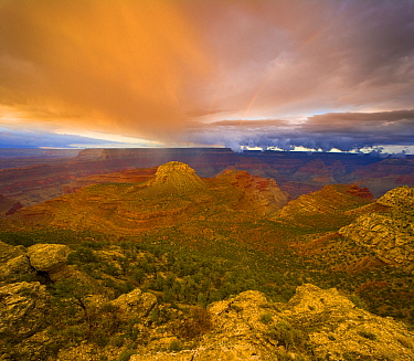 Storm clouds over the Grand Canyon, Grand Canyon National Park, Arizona