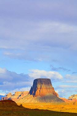 Cumulus clouds and butte, Glen Canyon National Recreation Area, Arizona
