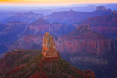 Sandstone rock pinnacle and buttes, Grand Canyon National Park, Arizona