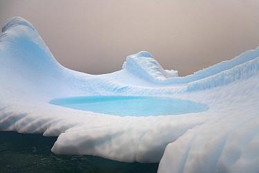 Iceberg with pool, Antarctic Peninsula, Antarctica