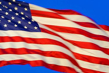 United States flag blowing in wind, Utah
