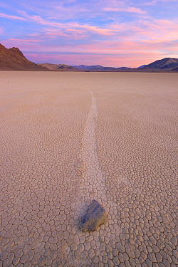 Racetrack Playa with mysterious 'sailing stones', Death Valley National Park, California