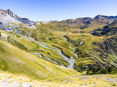 Salso Moreno Valley along the GR5 trail, Mercantour National Park, Alps, France