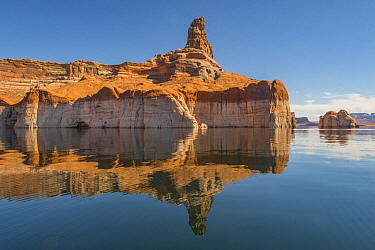 Sandstone rock formation, Lake Powell, Glen Canyon National Recreation Area, Utah