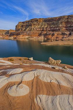 Sandstone rock formations, Last Chance Canyon, Lake Powell, Glen Canyon National Recreation Area, Utah