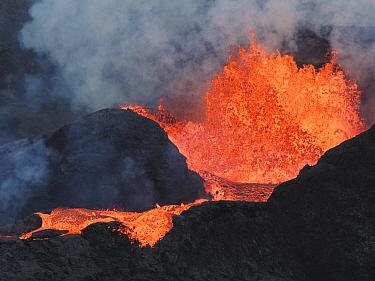 Volcano erupting, Fagradalsfjall Volcano, Iceland