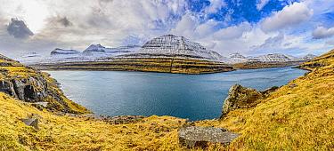 Coastline that was carved in glacial valley, Elduvik, Iceland