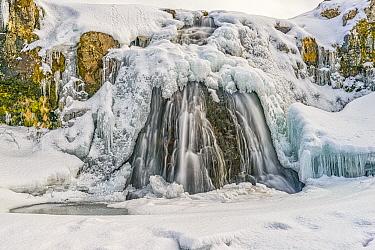 Waterfall in winter, Grundarfjordur, Iceland