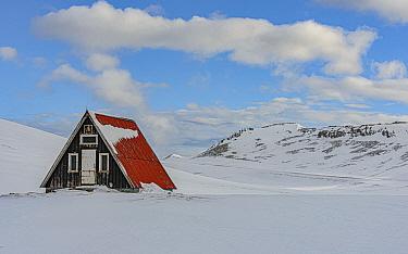 House in winter, Grundarfjordur, Iceland