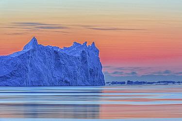 Iceberg at sunset, Ilulissat, Iceland