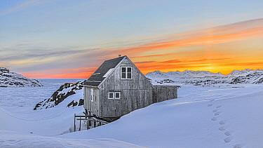 House in winter, Kulusuk, Iceland