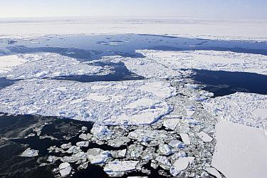 Hudson Bay in spring showing ice break-up, Churchill, Manitoba, Canada  -  Suzi Eszterhas