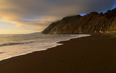 Lost Coast at sunset, Jones Beach, Synkyone Wilderness State Park, California  -  Suzi Eszterhas